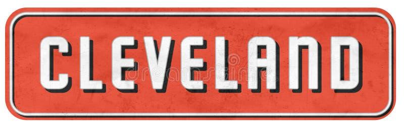 Cleveland Street Sign en los colores NFL de los marrones imagen de archivo libre de regalías