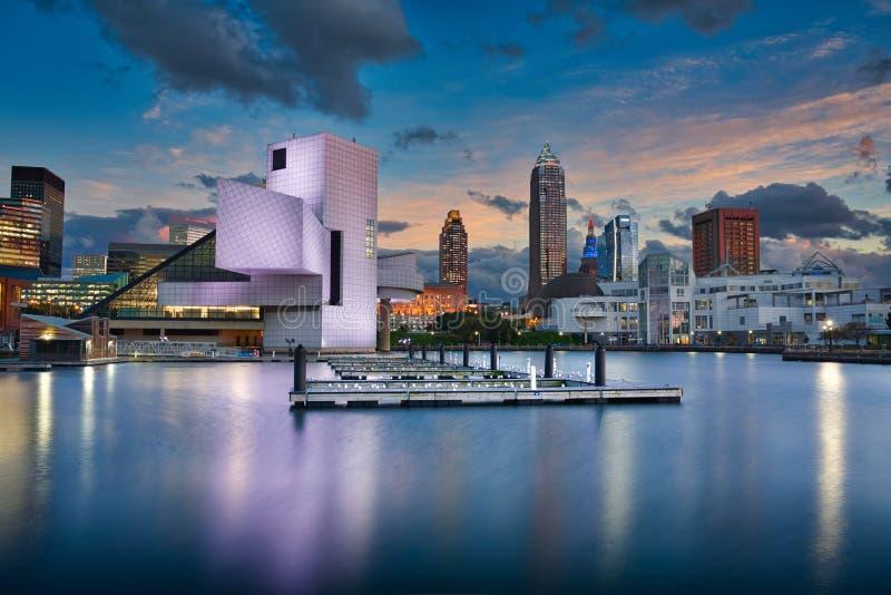 Cleveland & Sunset royalty free stock photography