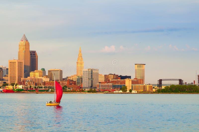 Cleveland sur le lac photo libre de droits