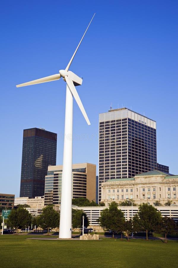 cleveland turbina wiatr zdjęcie royalty free