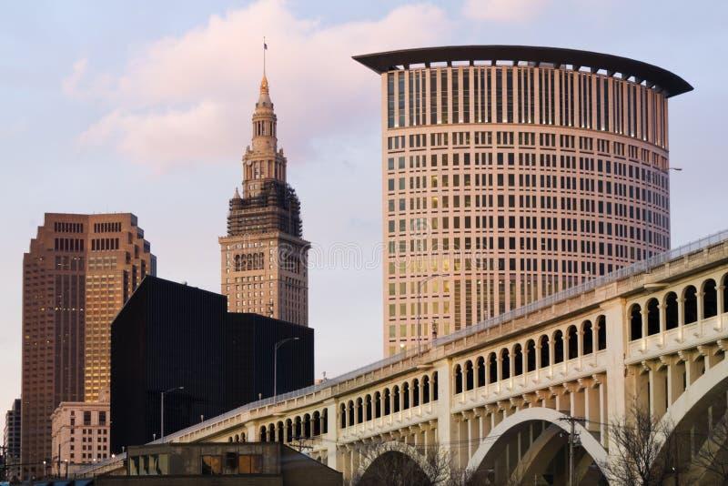 Cleveland van de binnenstad royalty-vrije stock foto's