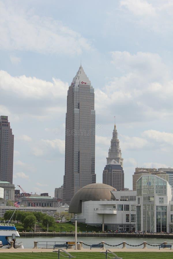 Cleveland van de binnenstad stock afbeeldingen