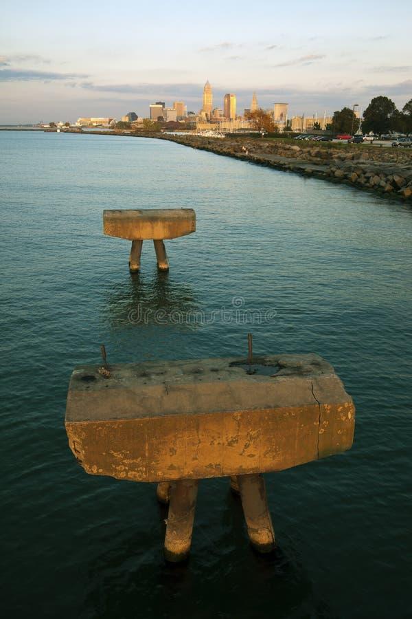 Cleveland von der Westseite stockfoto