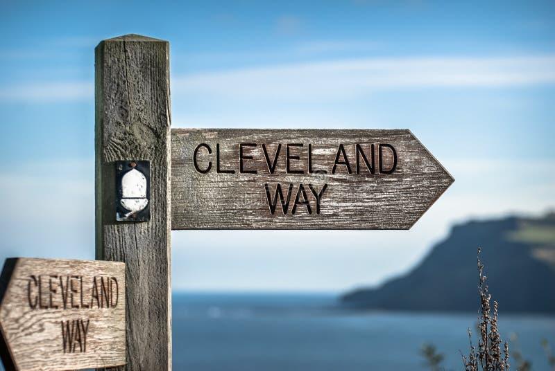 Cleveland Way Sign fotografie stock libere da diritti