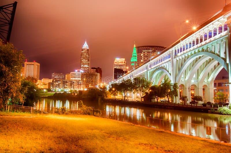 cleveland Wizerunek Cleveland śródmieście obraz stock