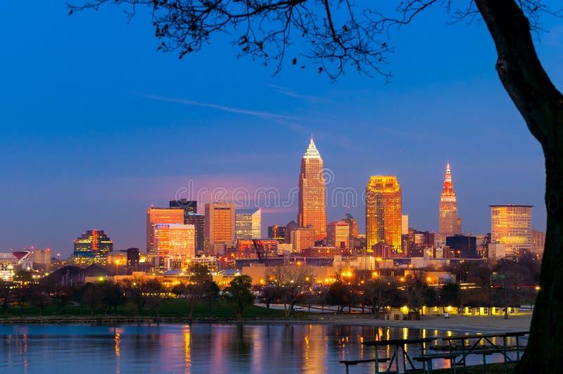 Cleveland złota godzina zdjęcie stock