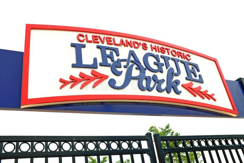 Clevelands parkerar historiska liga i Houghgrannskapen av Cleveland, Ohio, USA arkivbilder