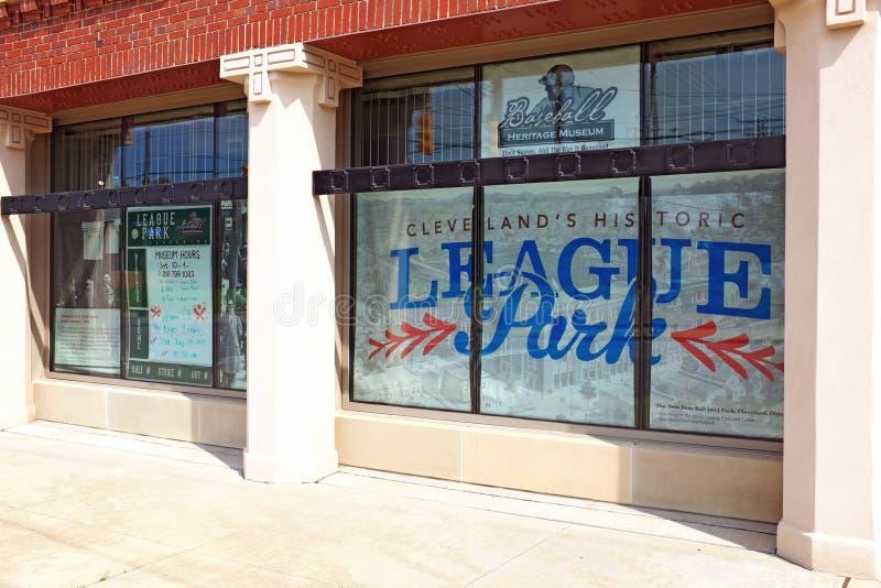 Clevelands parkerar historiska liga museet i Houghgrannskapen av Cleveland, Ohio, USA royaltyfria bilder