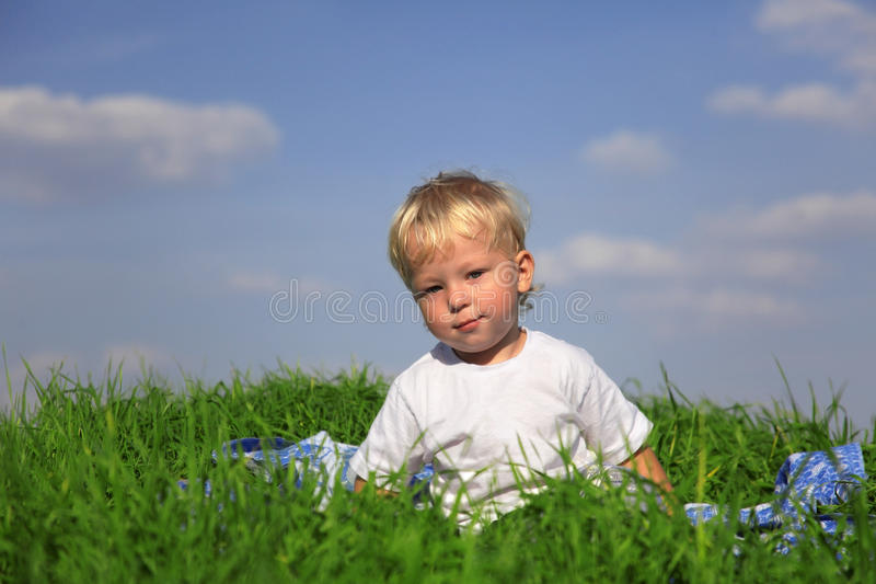 Download Clever boy outdoors stock image. Image of happiness, looking - 28246237