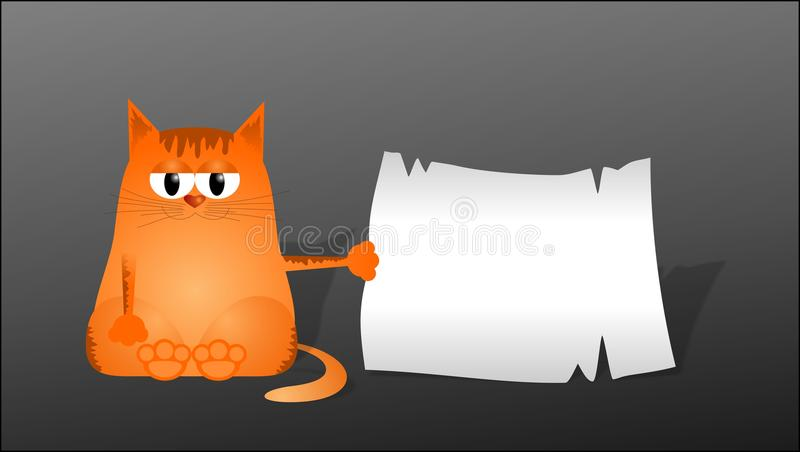 Clever cat stock photography