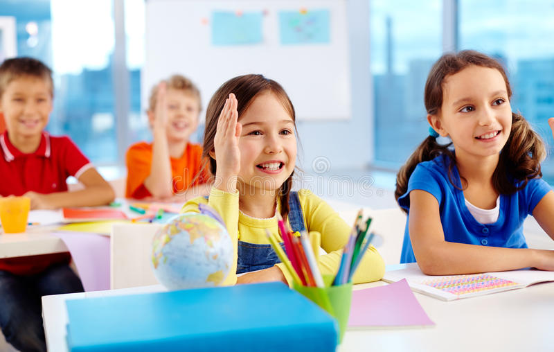 Clever kids stock photography