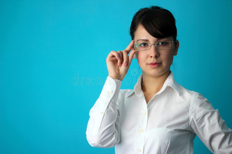 Clever woman royalty free stock image
