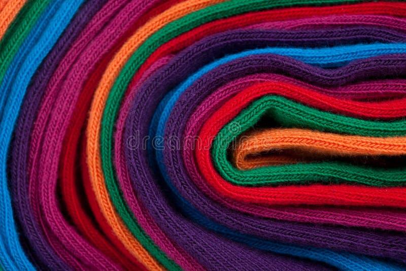 Clew del tessuto di tessile variopinto immagine stock libera da diritti