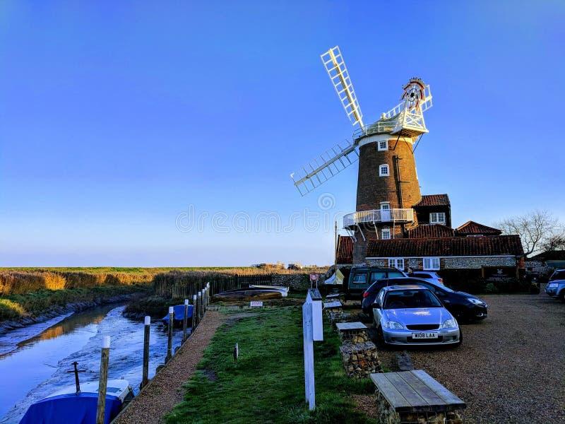 Cley daarna de overzeese windmolen Norfolk, het UK royalty-vrije stock afbeeldingen