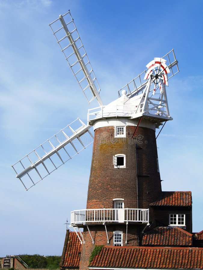 Cley Windmill Norfolk. Cley Windmill in the Norfolk Broads, East Anglia, England royalty free stock photography