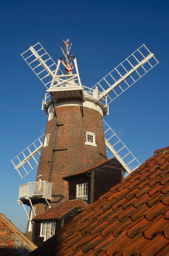 CLeywindmolen Norfolk Engeland stock foto's