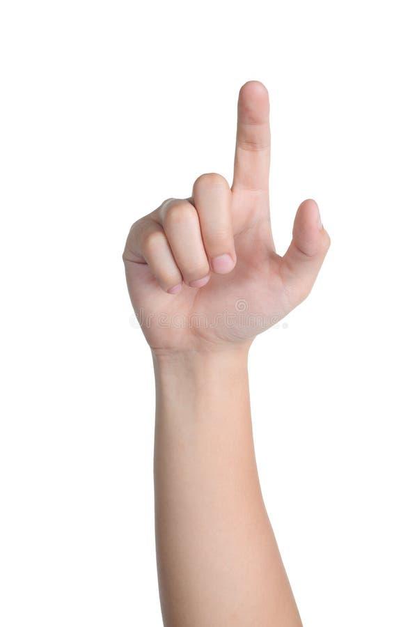 Clic di posizione del segno della mano isolato immagini stock libere da diritti