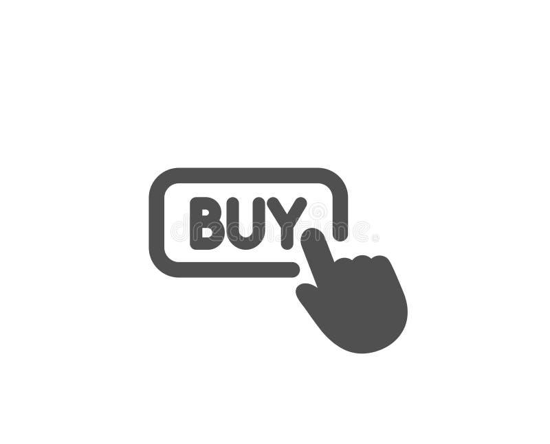 Clic pour acheter l'icône simple Signe en ligne d'achats illustration stock