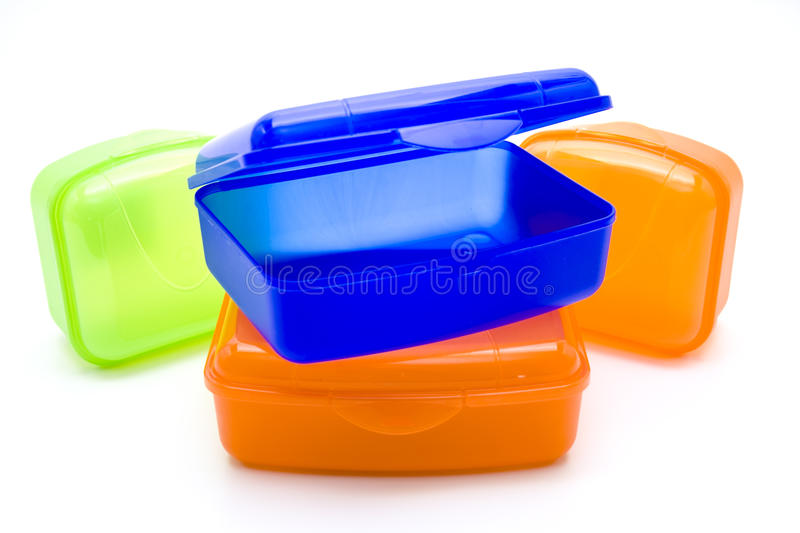 Click boxes. If Click boxes of plastic and on white background passed away stock image