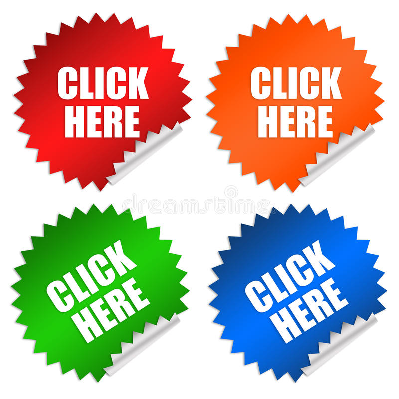 Download Click Here Stock Photo - Image: 17947570