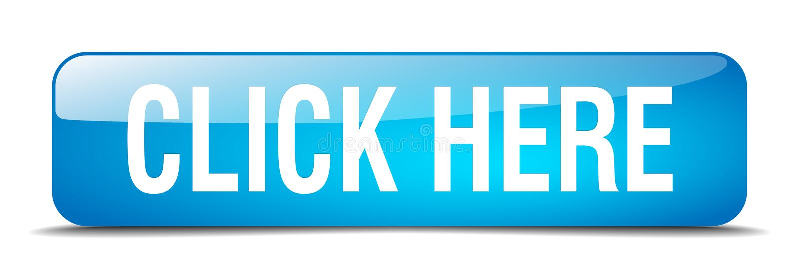 click here blue square isolated web button royalty free illustration