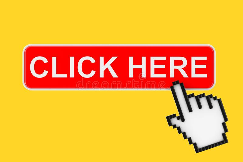 Press Here Button Stock Illustrations – 3,182 Press Here