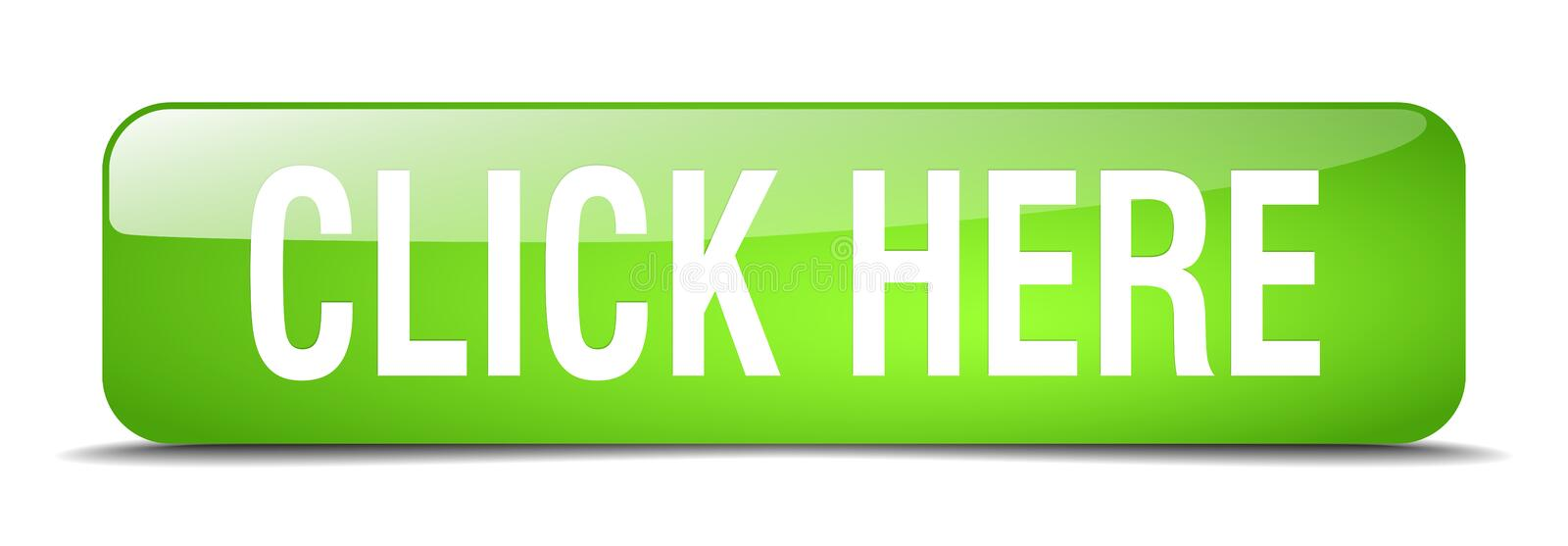 Click here green square isolated web button royalty free illustration