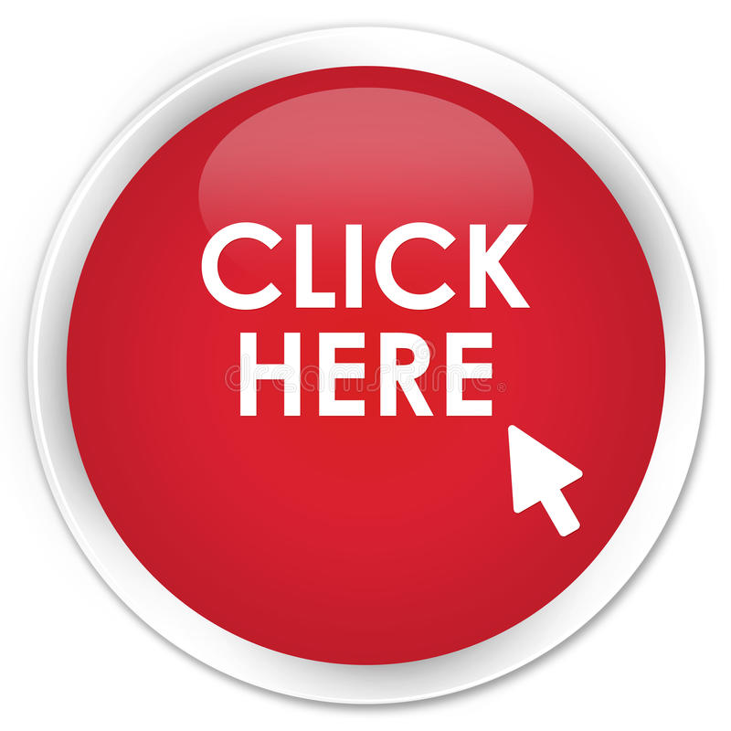 Free Click Here Premium Red Round Button Stock Image - 89300001