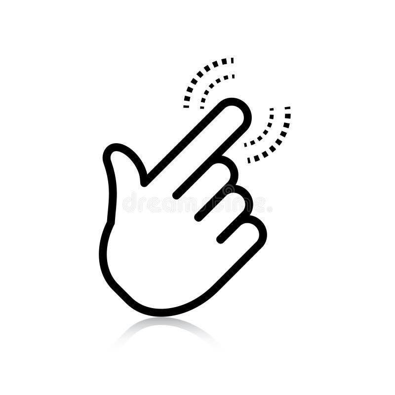 Click icon. Click. hand icon pointer. vector eps8