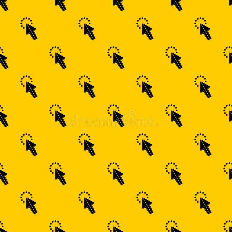 Click pattern vector. Click pattern seamless vector repeat geometric yellow for any design royalty free illustration