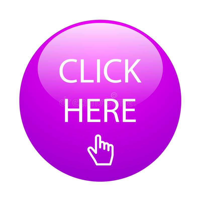 Click here button vector illustration