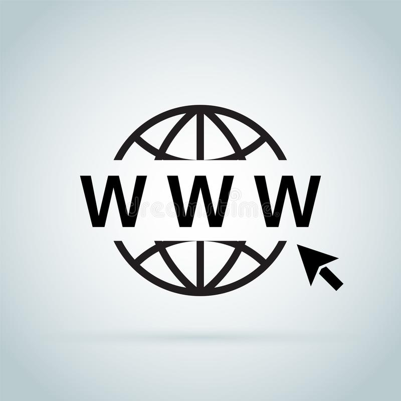 Click to go to online website or internet flat vector icon for apps and websites. Go to web Icon in trendy flat style isolated on grey background. Website vector illustration