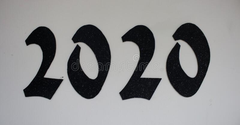 2020 text . 2020. clicked using Canon EOS 70D stock photo