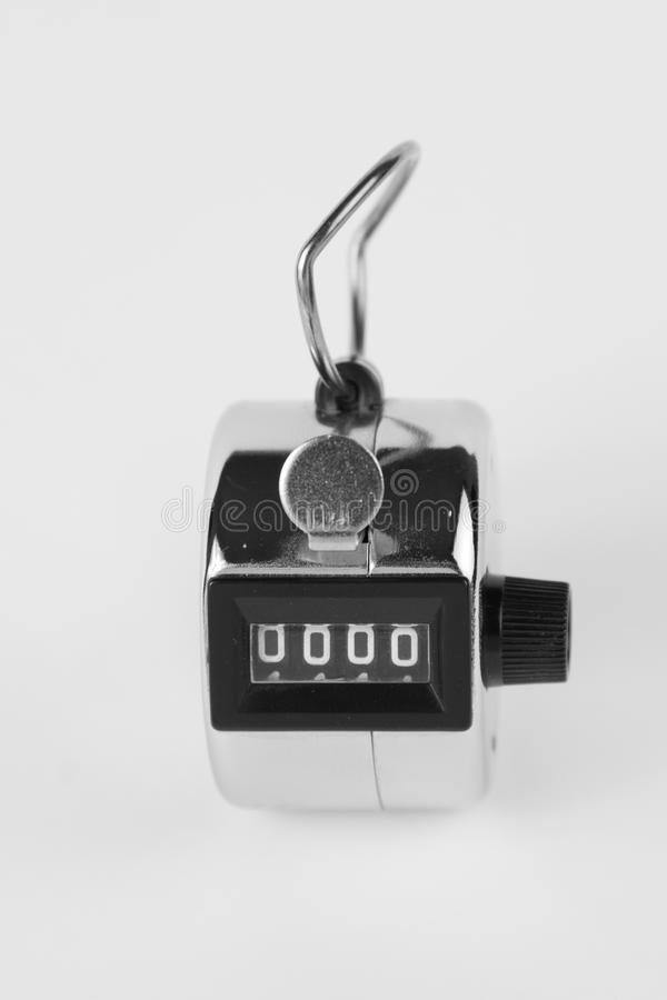 Clicker. Classic clicker on white background royalty free stock photos