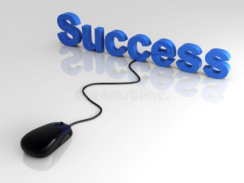 Download Clicking Success stock illustration. Image of business - 13902743