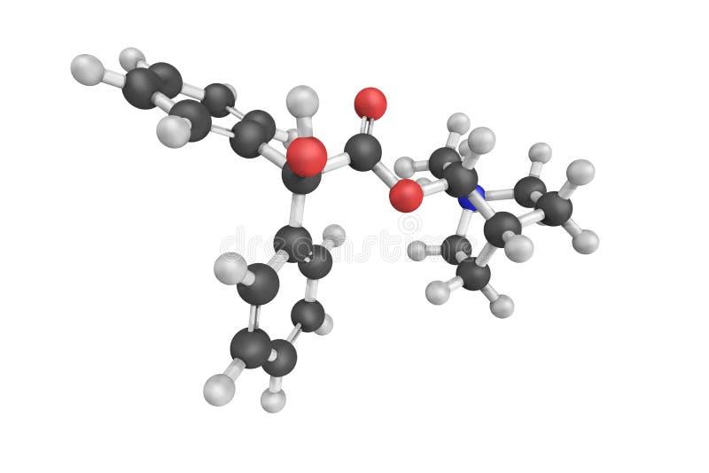 Clidiniumbromide, een anticholinergic drug Mei-hulpsymptomen van stock foto