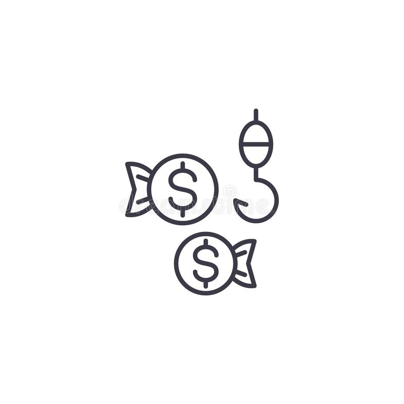 Client appeal linear icon concept. Client appeal line vector sign, symbol, illustration. stock illustration