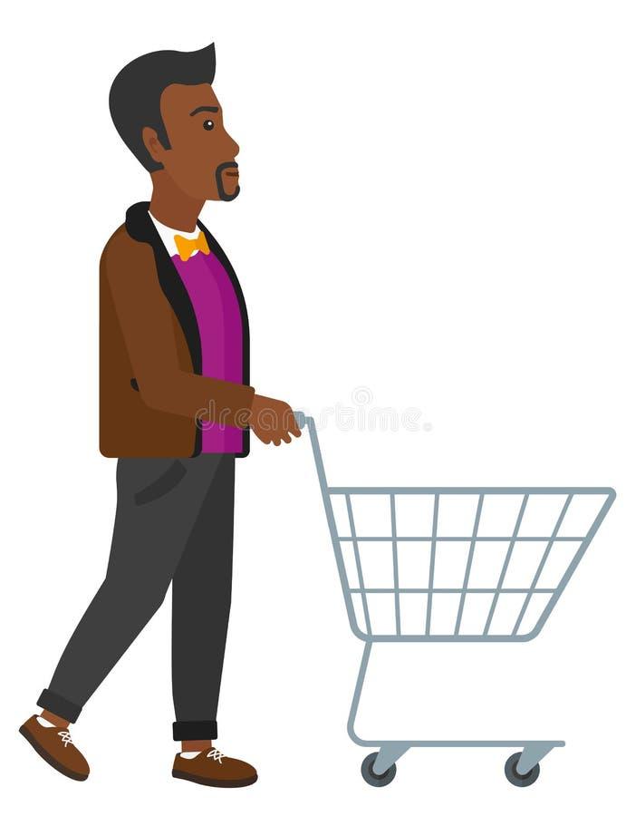 Client avec le chariot illustration libre de droits