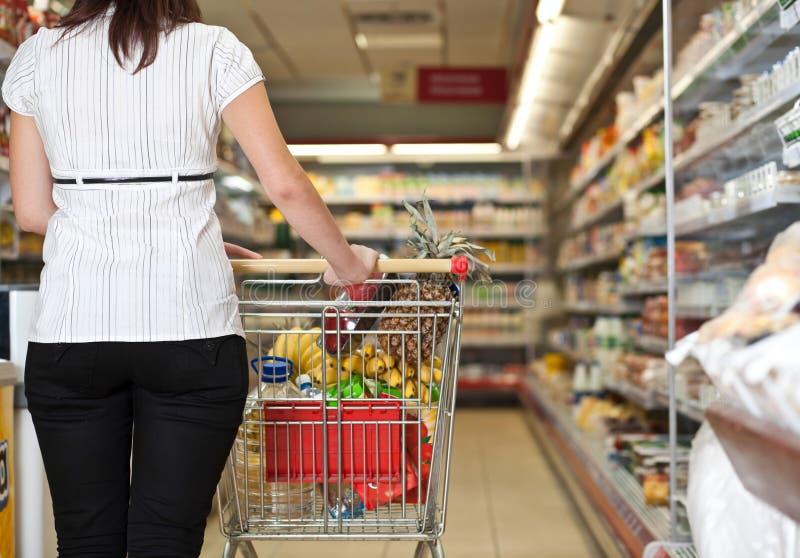 Client de supermarché photographie stock