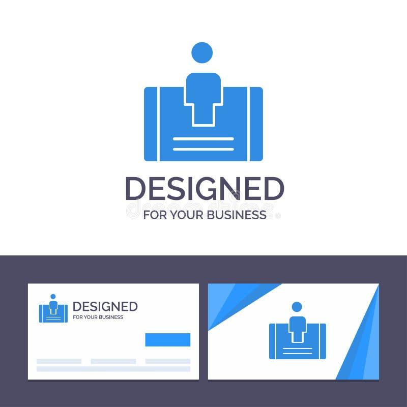 Client de visite de calibre créatif de carte de visite professionnelle et de logo, engagement, mobile, illustration sociale de ve illustration de vecteur