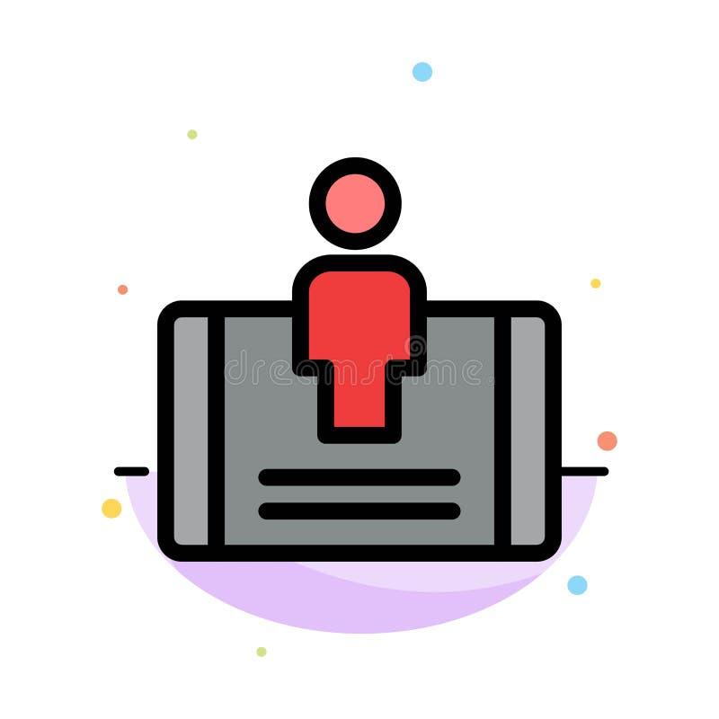 Client, engagement, mobile, calibre plat abstrait social d'icône de couleur illustration libre de droits