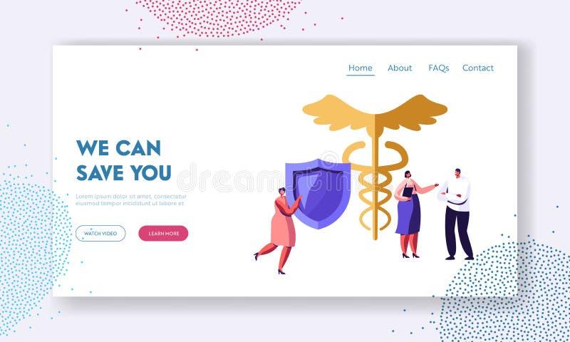 Client parlant avec l'agent d'assurance pour la politique médicale de signature de protection de santé pour la garantie de la vie illustration stock