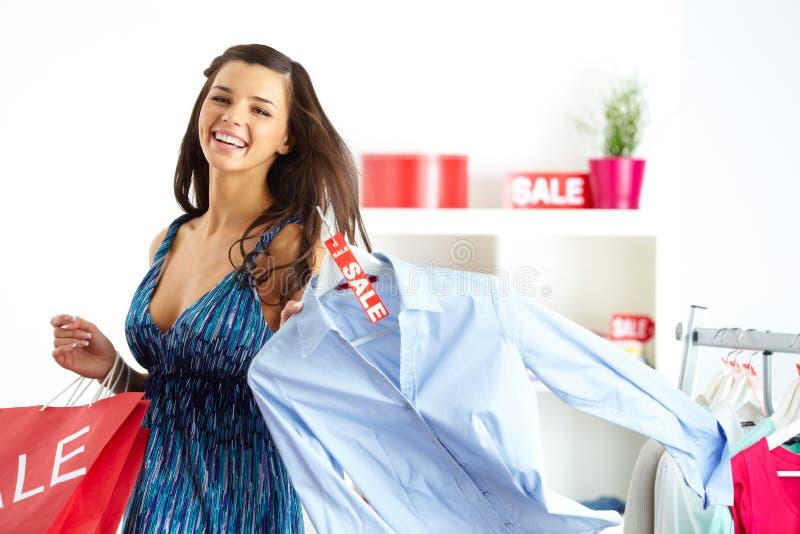 Cliente com camisa fotos de stock royalty free