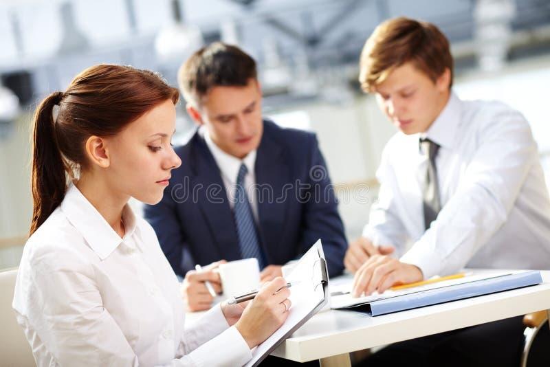 Cliente da reunião fotos de stock