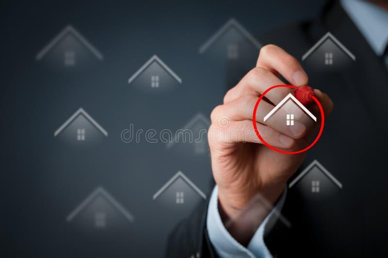 Cliente de las propiedades inmobiliarias fotos de archivo