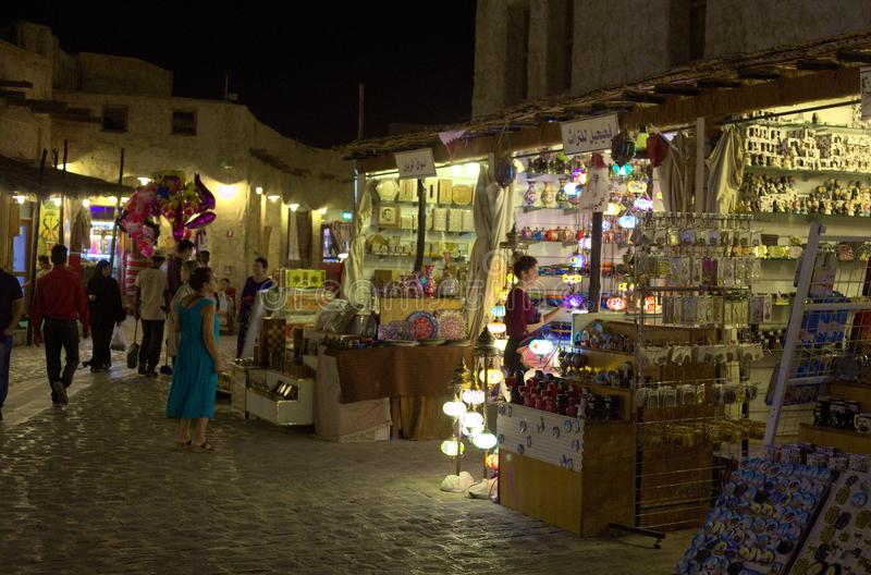 Cliente del souq di Doha fotografia stock libera da diritti