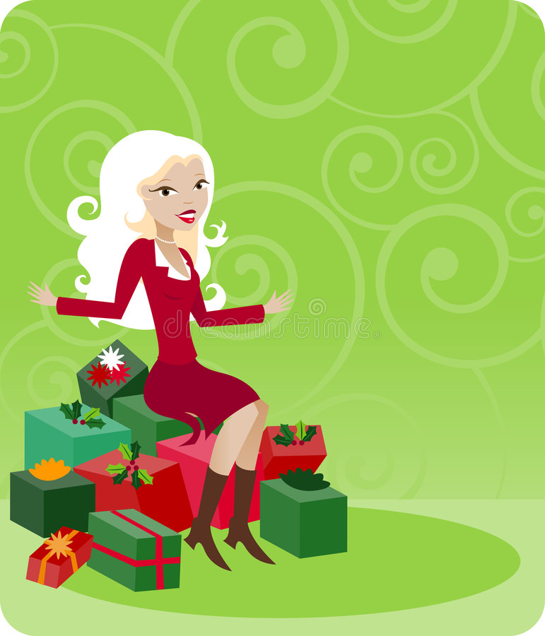 Cliente do feriado ilustração stock