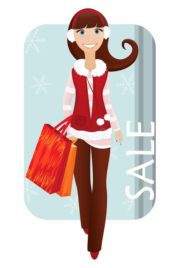 Cliente do Natal ilustração stock