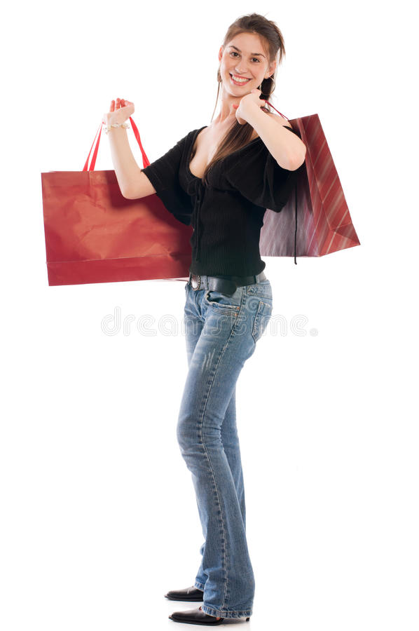 Cliente felice immagini stock