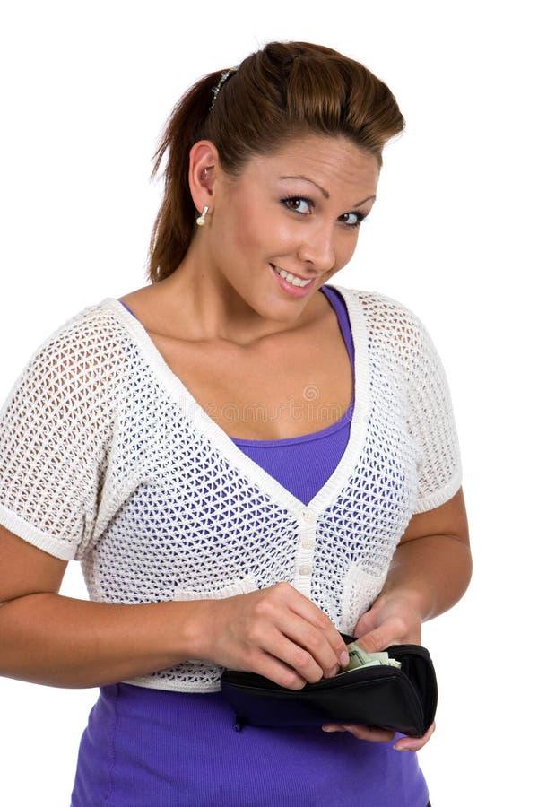 Cliente feliz da mulher fotografia de stock